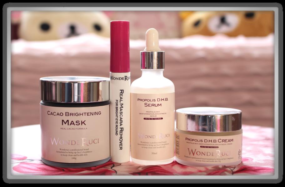 WondeRuci products haul & review korean cosmetics asian memebox propolis chocolate cacao honey serum cream mascara remover 1