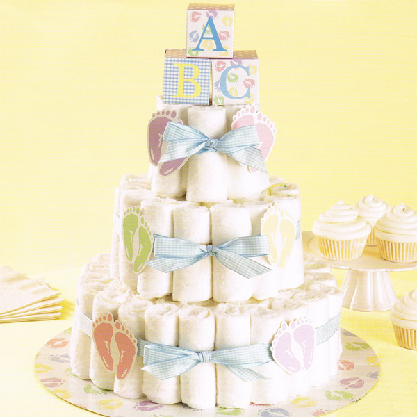 Baby shower blog for Baby shower diaper decoration