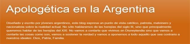 APOLOGETICA EN LA ARGENTINA