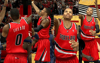 NBA 2K13 Portland Trail Blazers Red Alternate Jersey Patch