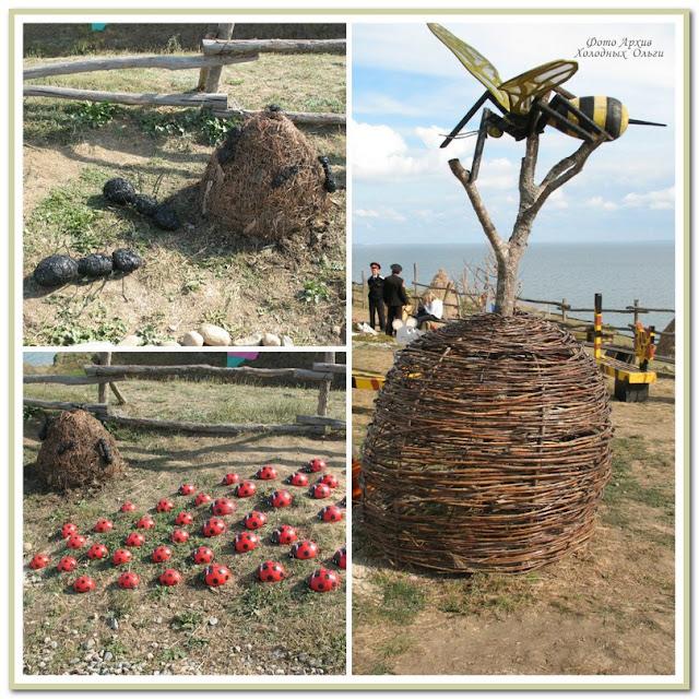 муравьи и оса