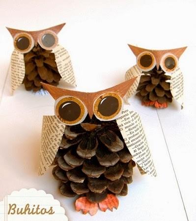 10 ideas de decoracion de navidad con pi as de pino i parte - Pinas decoradas para navidad ...