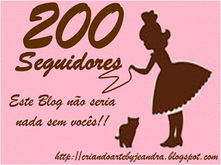 200 SEGUIDORES, OBAAAA!!!
