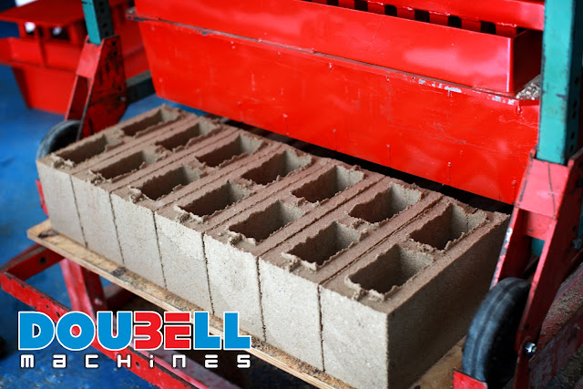 Brick-making machinery with M6 Cavity Block production Doubell