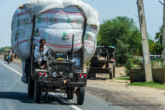 Truck carrying Wheat crop