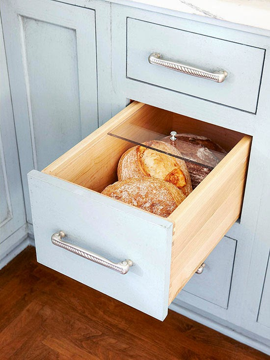 Get Bread Off The Counter And Within Easy Reach With A Special Drawer