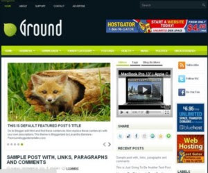 Ground Blogger Template