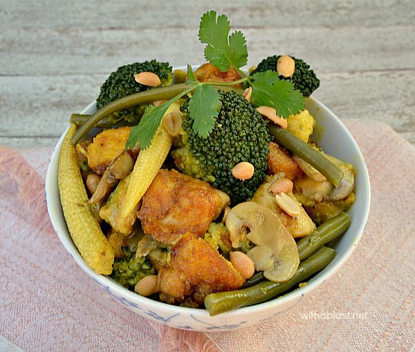 Healthy, packed with veggies Quick Chicken Curry which even the kids love !