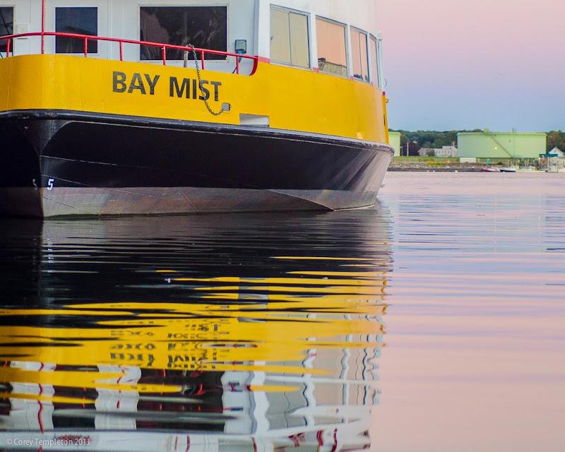 Portland, Maine Casco Bay Lines Ferry Bay Mist. September 2013. Photo by Corey Templeton.