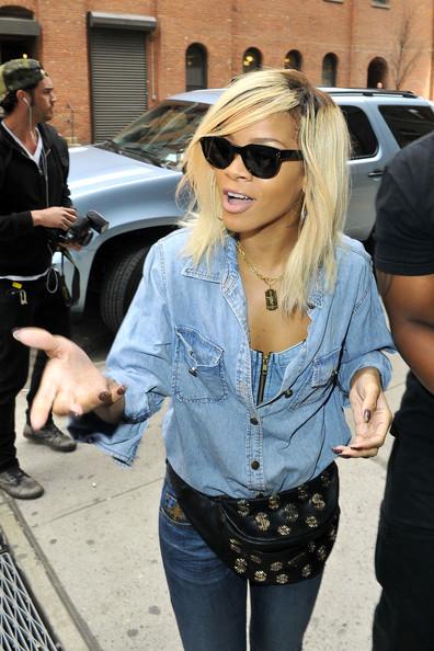 rihanna haarfarben, rihanna make up: Rihanna Medium Length ...