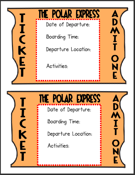 Polar express ticket template search results calendar 2015 for Polar express golden ticket template
