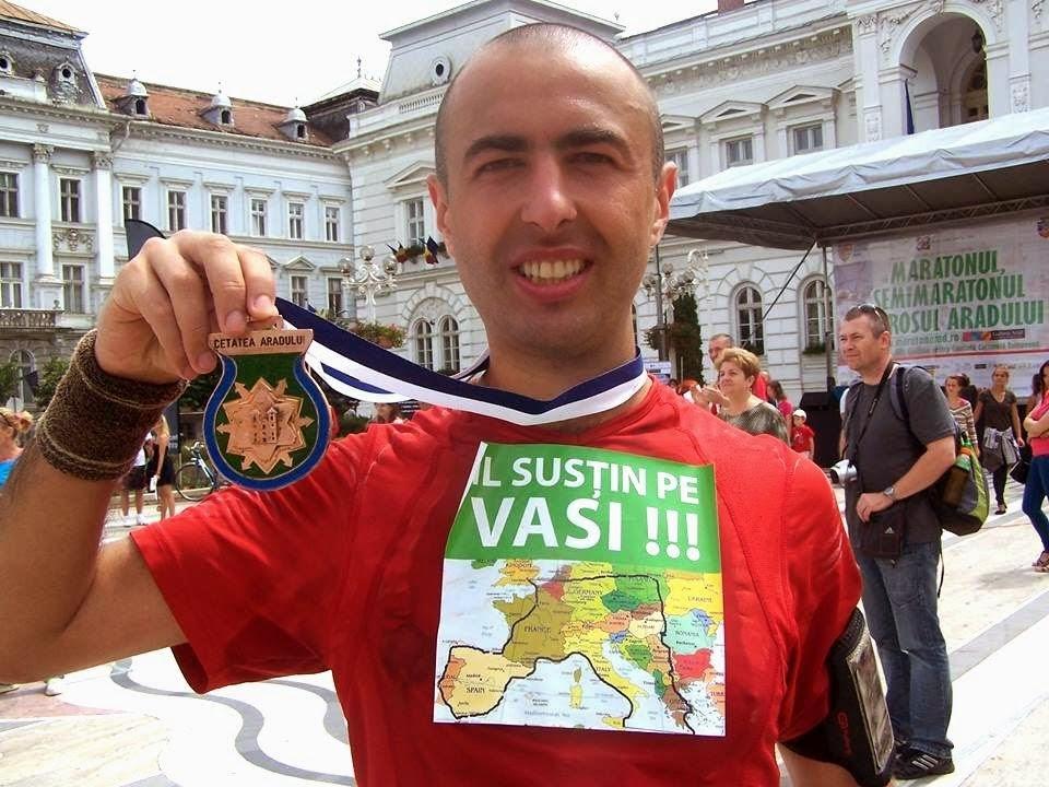 Cum am alergat 61 km alături de Vasile Stoica pe traseul Timişoara - Lugoj. Când visele devin realitate. Îl susţin pe Vasi