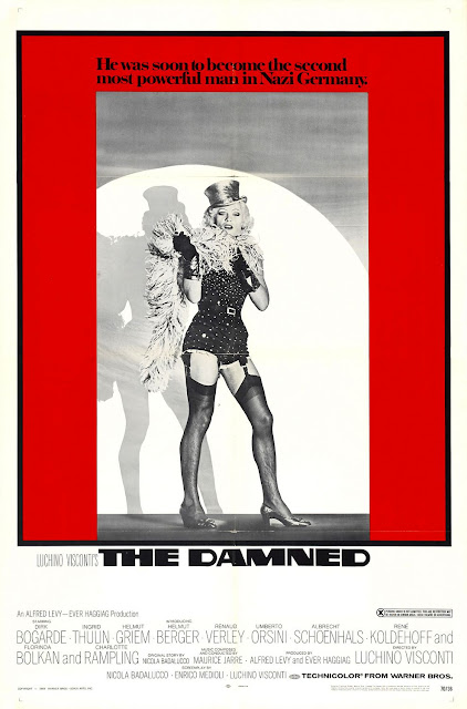 The Damned (1969), Italian: La caduta degli dei; German: Die Verdammten (Götterdämmerung), Directed by Luchino Visconti, starring Dirk Bogarde, Ingrid Thulin and Helmut Berger (dressed as a transvestite)