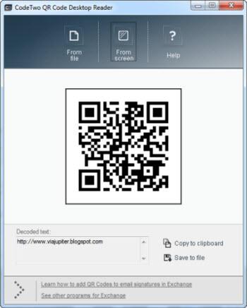 Accede al contenido de códigos QR desde Windows