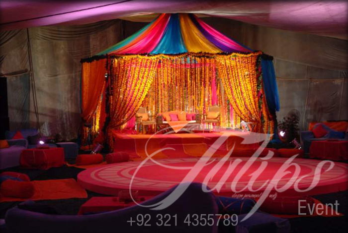 Mehendi Stage Decoration Best Pakistani Wedding Stages