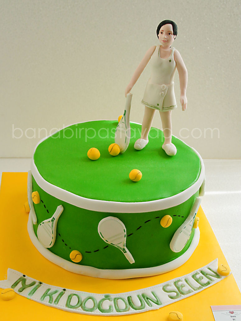 Tennis Cake Topper Decorations