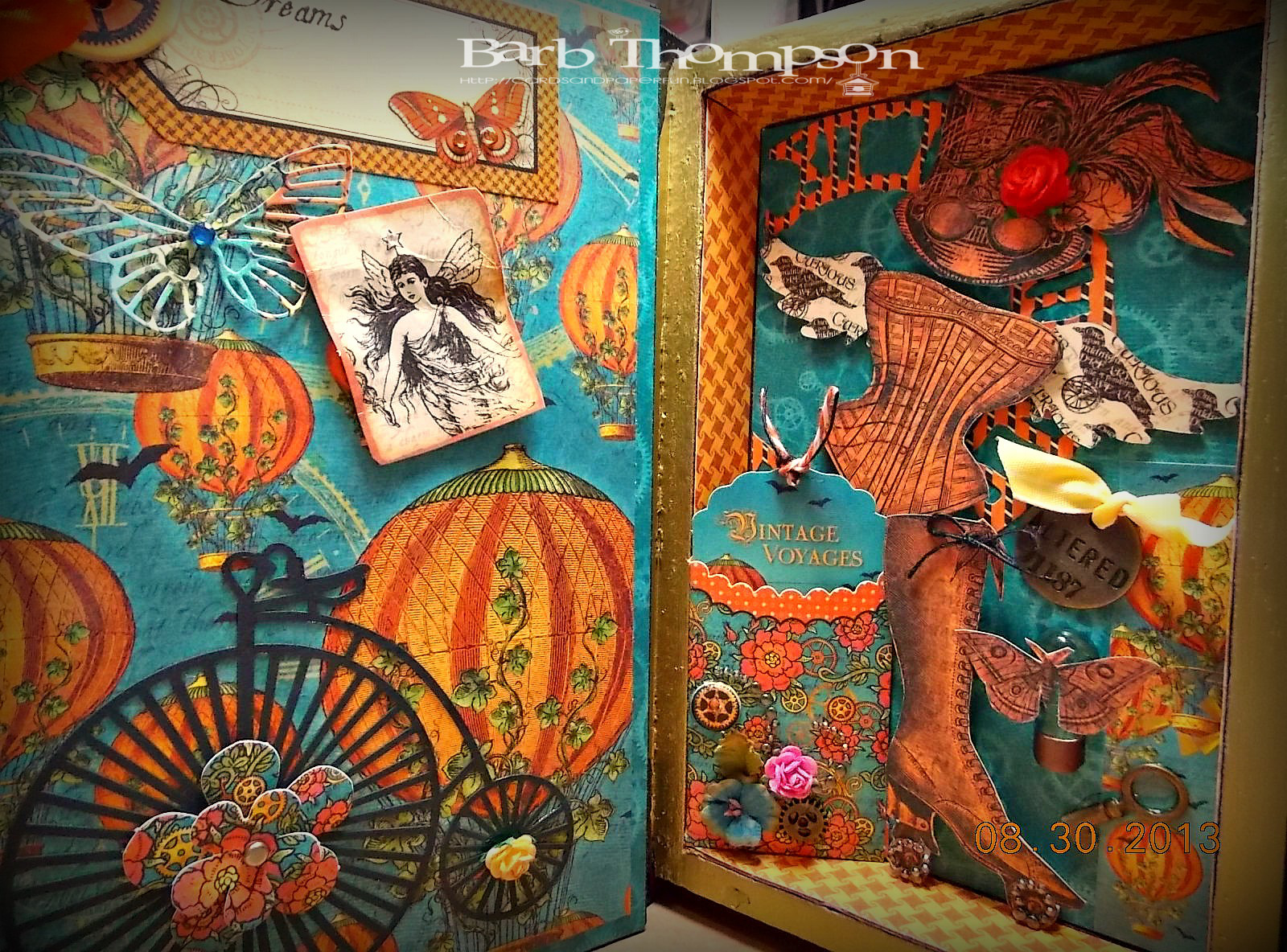 Cards and paper fun: Steampunk spells Vintage Voyage ...