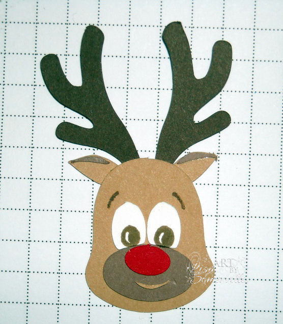 Reindeer Head Outline Template And add template resize