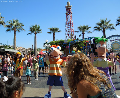 Phineas Ferb Danc Party Disney California Adventure costumes