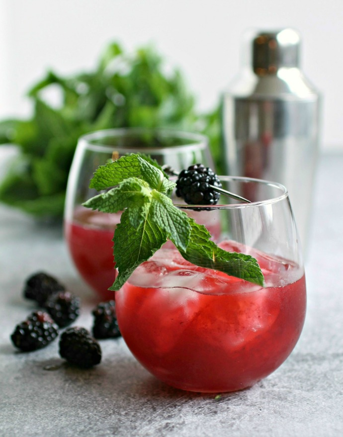 Blackberry Mint Bramble