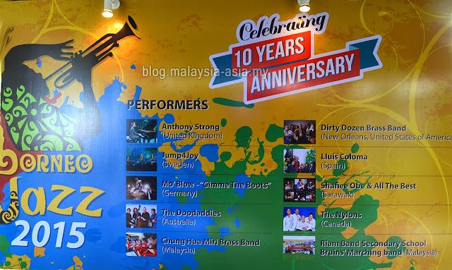 Borneo Jazz Festival 10th Anniversary 2015