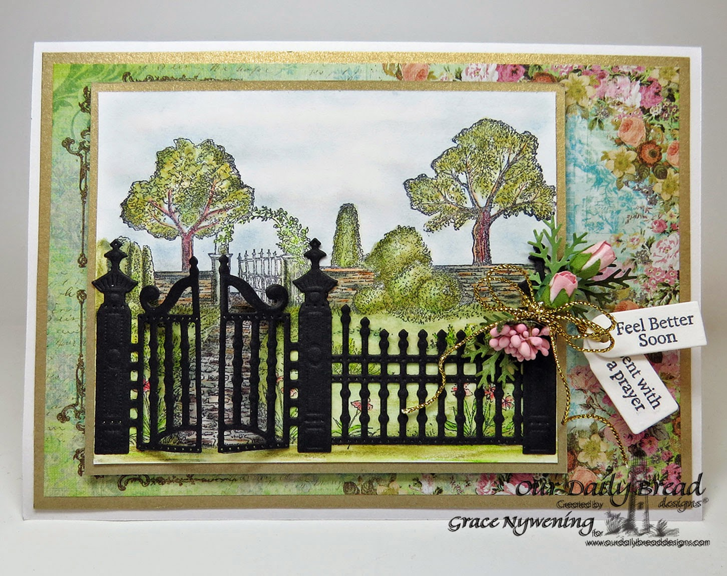 ODBD stamps: Garden Path, Mini Tag Sentiments, designed by Grace Nywening