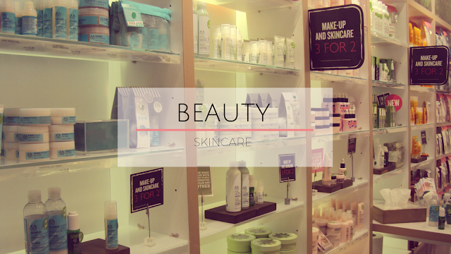 beauty product shelf