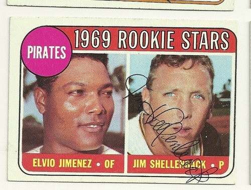 MANNY (NOT his brother Elvio) Jimenez & Jim Shellenback 1969 baseball card
