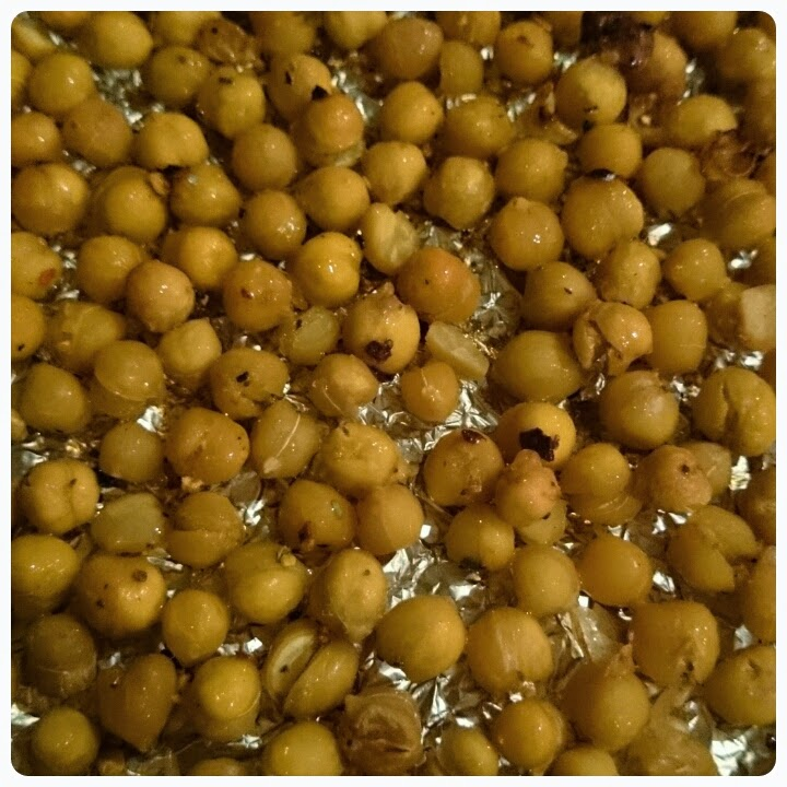 roasted chilli chickpeas