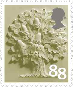 England 88p definitive stamp.