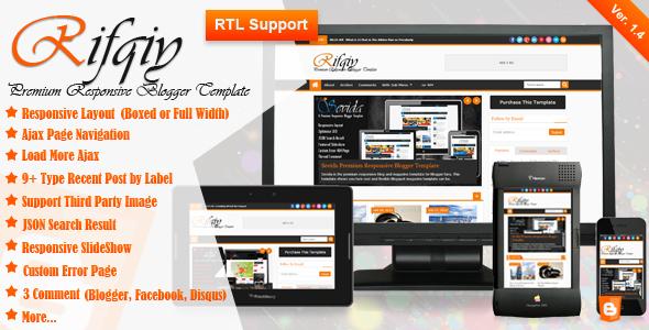Rifqiy v1.4 - Responsive Magazine/News Blogger Template
