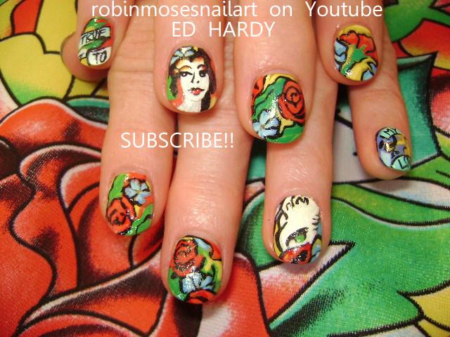 Nail Art Design: ed hardy nails,ed hardy geisha nails, geisha nail ...