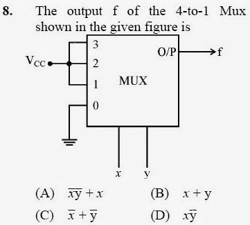 2012 December UGC NET in Electronic Science, Paper II, Questions 8