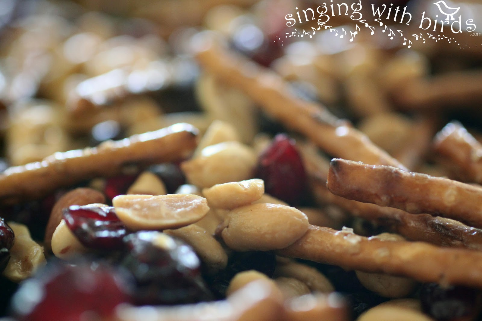 Pretzels, peanuts, bacon, cranberries, and milk chocolate chips are ...