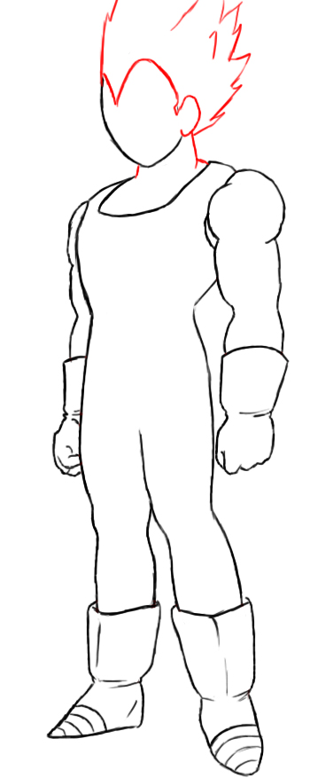 Vegeta   s hands are clenched into fists  which you can make by    Vegeta Color Drawing