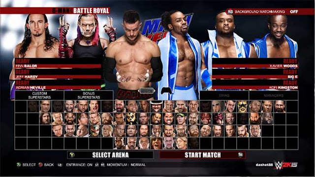 wwe 2k16 full roster