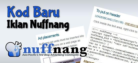 Kod baru iklan Nuffnang