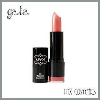 NYX lipstick gala pink