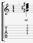 C#minor guitar chord
