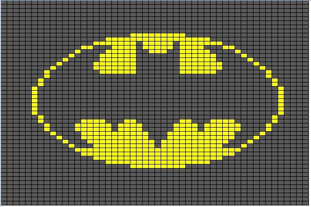 Butterflys Creations Superhero Afghan Batman Block 1
