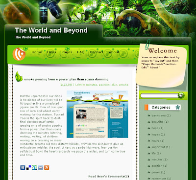 The World and Beyond nature blog template