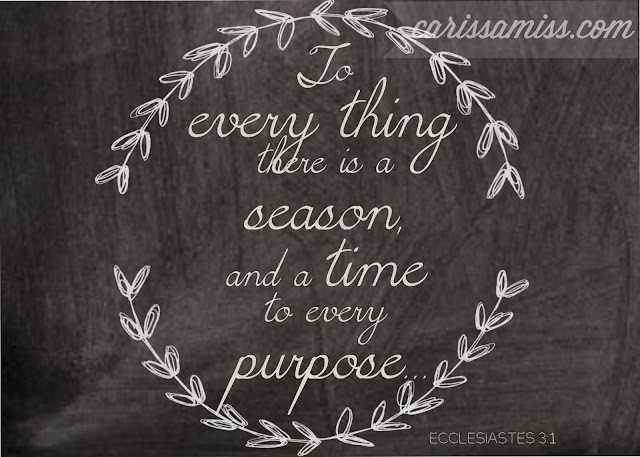 Carissa Miss: Time and a Purpose #freeprintable