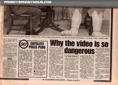 UK newspaper clippings on video nasty culture