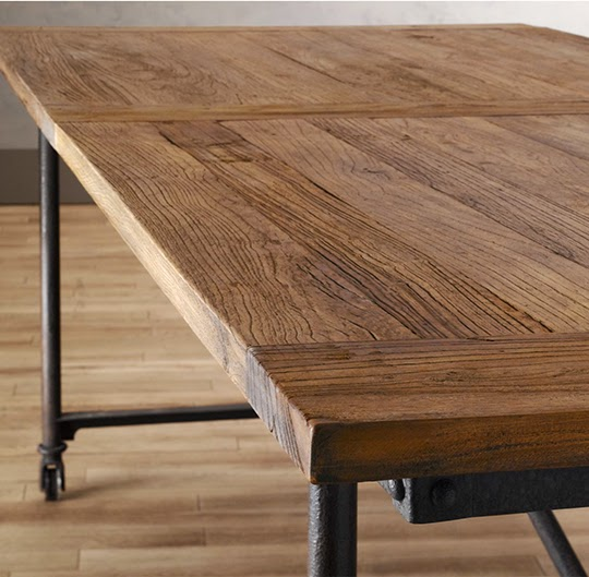 totally obsessed restoration hardware flat iron dining table