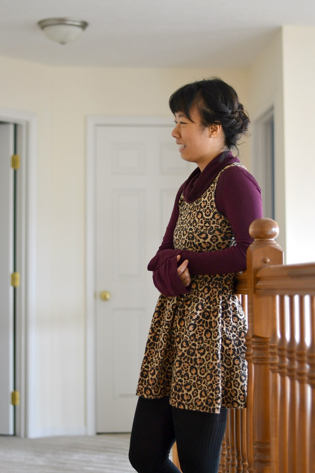 cowlneck long sleeve and dress, wearing dresses in winter