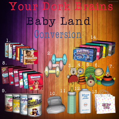 My Sims 3 Blog Baby Land Conversions By Yourdorkbrains