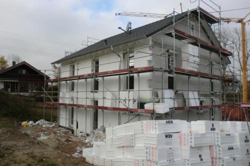 neubau einfamilienwohnhaus in 79418 schliengen au enfassade d mmung wdvs. Black Bedroom Furniture Sets. Home Design Ideas