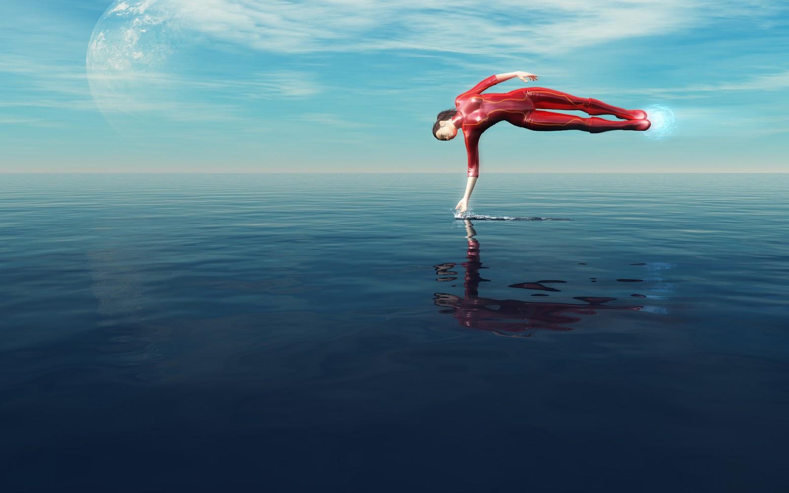 levitating girl wallpaper - photo #5