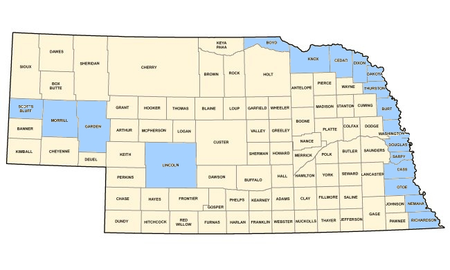 Aksarbent 18 Nebraska Counties Covered By Obama Emergency