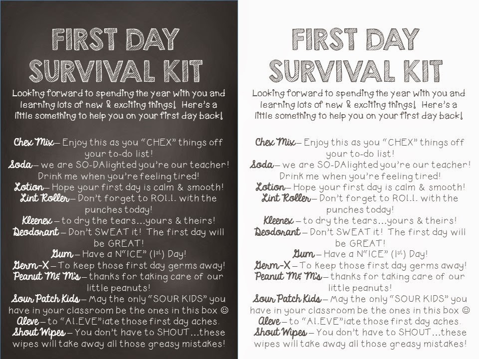 If you want to create a little survival kit for your child s teacher